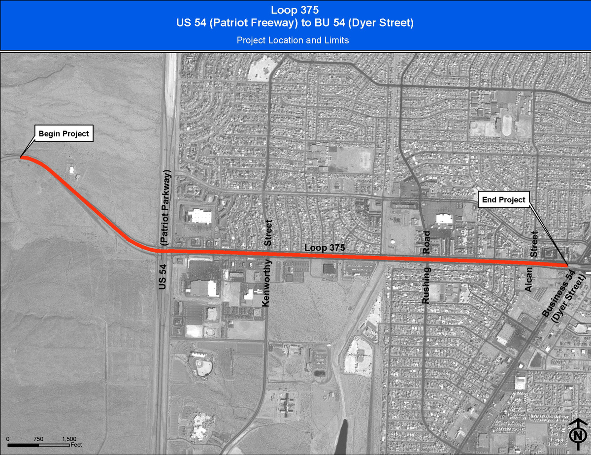 3   loop 375 at us54 %28ne mainlanes%29 project %28txdot   09.18.09%29